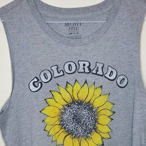 Women's Sunflower Solid Pajama Tank Top Pullover-